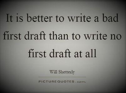 Bad first draft